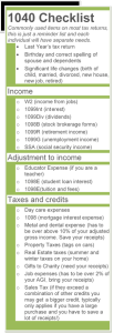 1040 checklist
