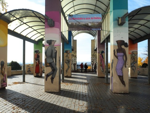 belvedere parc de Belleville street art Seth