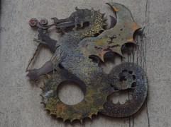 metal dragon street art Butte aux Cailles Paris