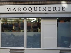 M is for Maroquinerie - a leather work artisan or supplier, in this case wholesale handbags