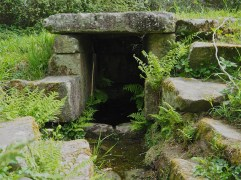 An ancient covered spring near Crach, Morbihan.