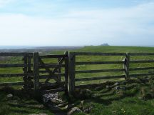 Lindisfarne gate and castle view