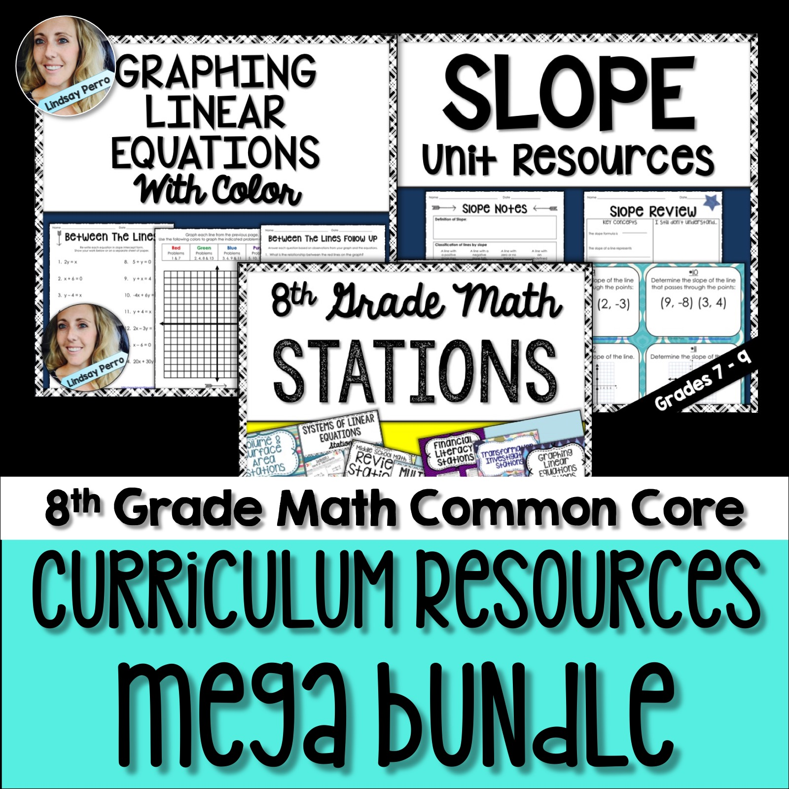 8th Grade Math Curriculum Resources Activity Bundle