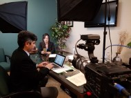 Behind the scenes for creating a short web video.