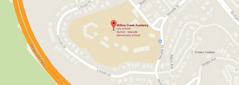 Willow Creek Academy Map
