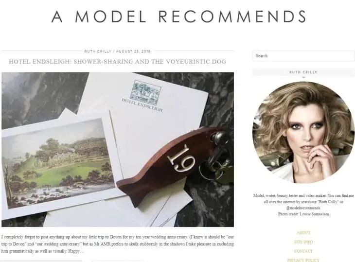 A Model Recomends