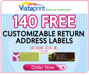 Today Only: 140 FREE Labels From Vistaprint