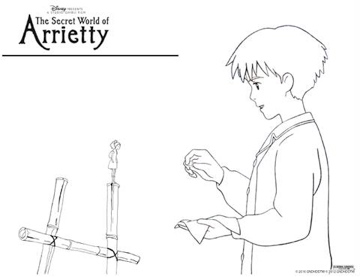 Be Your Best Mom The Secret World of Arrietty: Coloring