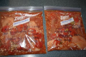 Savory Chicken and Tomatoes Freezer Crockpot Meal