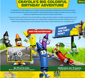 Win a Trip for 4 to the Crayola Experience *OVER*