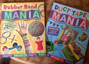 Kids Crafting Books: Rubber Band and Duct Tape Mania #Review #Giveaway