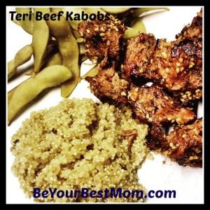 Teri Beef Kabob Recipe with Cave Tools' Shish Kabob Barbecue Skewers  #Foodie #CaveTools #Review