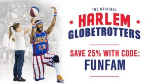 Harlem Globetrotters Discount Code All Games #HarlemGlobetrotters