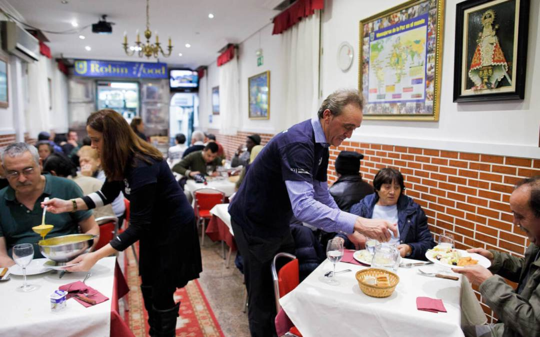 How a padre feeds the homeless with dignity in Spain by NPR