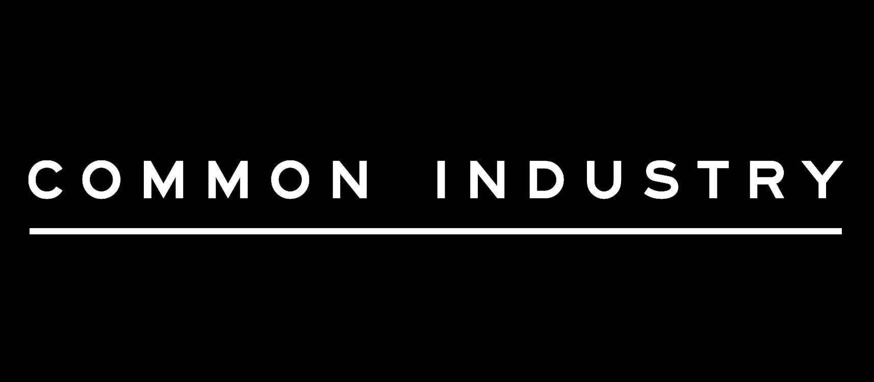 Common Industry logo - white on black (3)