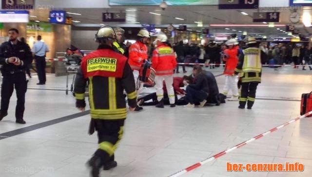 Мъж с брадва е ранил няколко души на гарата в Дюселдорф