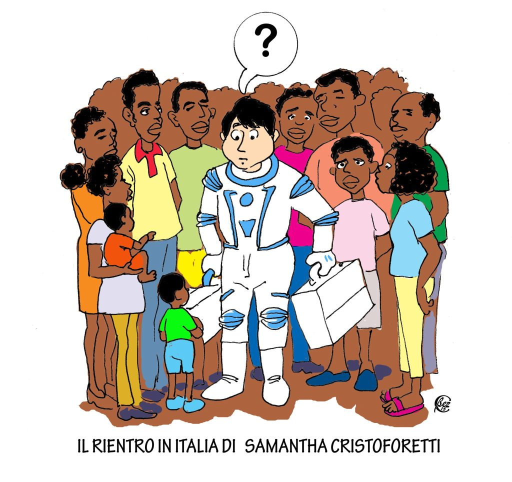 SAMANTHA CRISTOFORETTI RIENTRA IN ITALIA