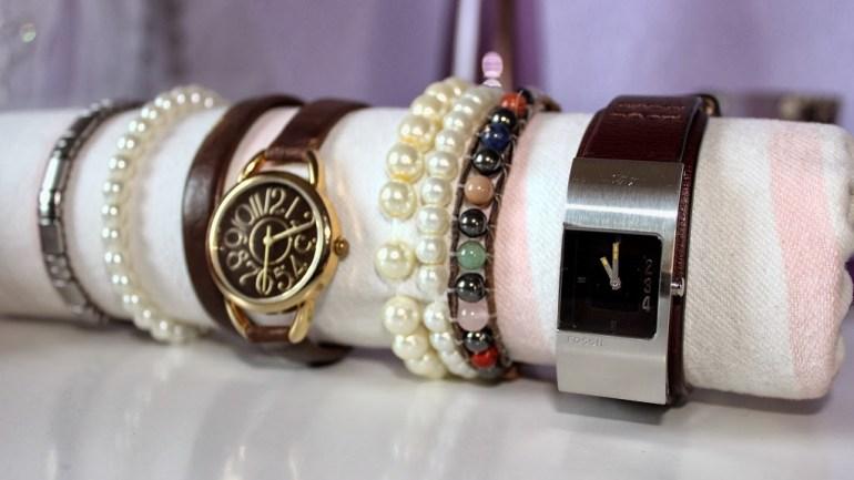 [DIY] Aufbewahrung für Armbänder und Uhren