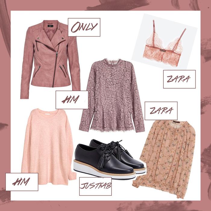 Januar Favoriten 2017, Mode Neuheiten, Rosa Lederjacke, Spitzen Bluse, Schnürschuhe mit Plateausohle, bezauberndenana.de