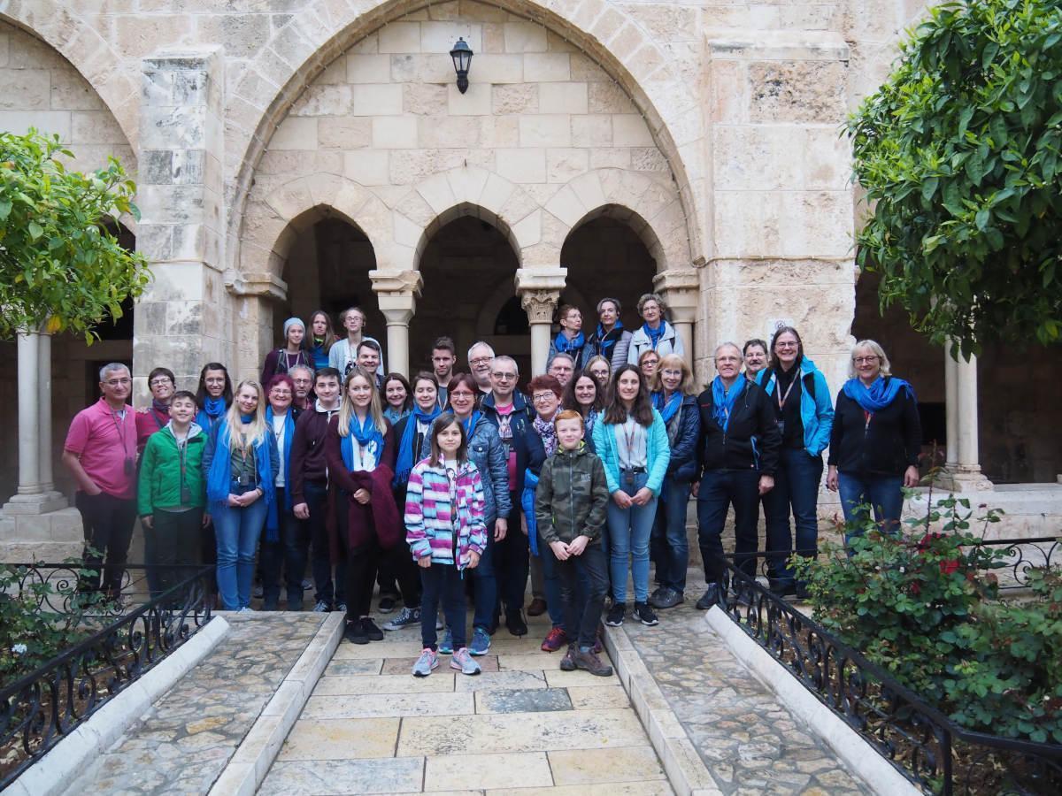 Die Reisegruppe In Bethlehem