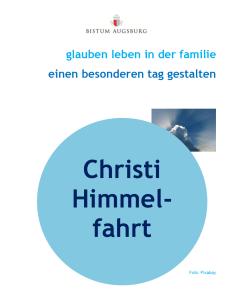 Ideen Und Anregungen Für Christi Himmelfahrt