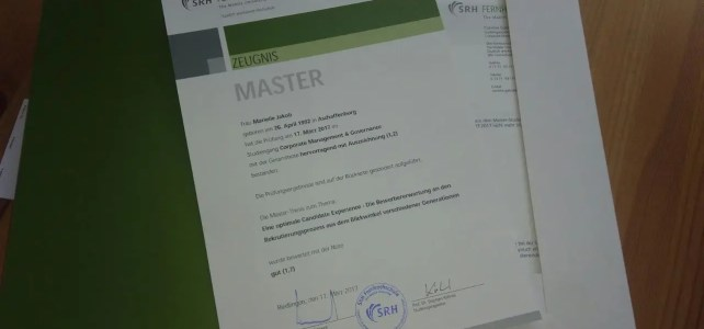 Ziele-Update: Master of Arts – Check!
