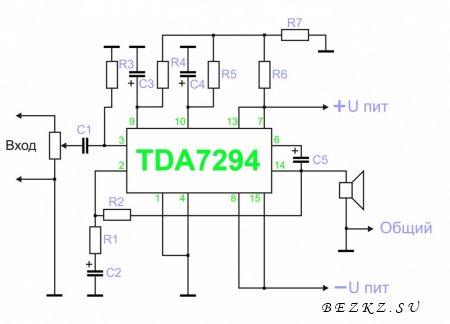 Усилитель мощностью 100 ватт на TDA7294 » Электрик