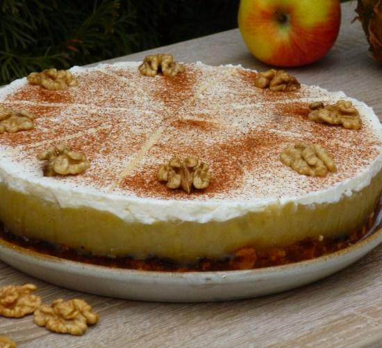 Jablíčkový cheesecake