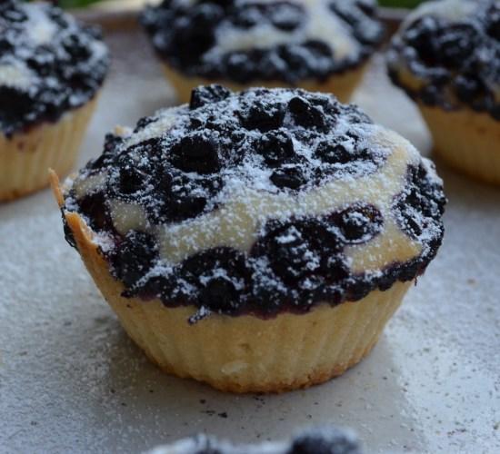 Borůvkové a třešňové muffiny
