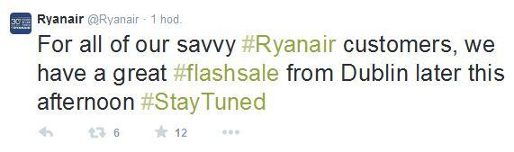 Ryanair flash shale