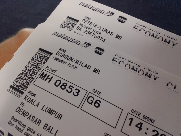 Malaysia Airlines boarding pass