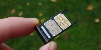 Dual SIM telefón