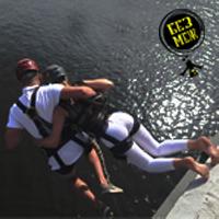 тандем прыжок с веревкой, прыжок вдвоем с моста фото, прыжок с моста фото, роупджампинг