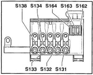 Audi TT (2001) – bezpieczniki schemat