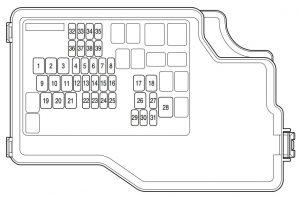 Mazda 3 (2011) – bezpieczniki schemat