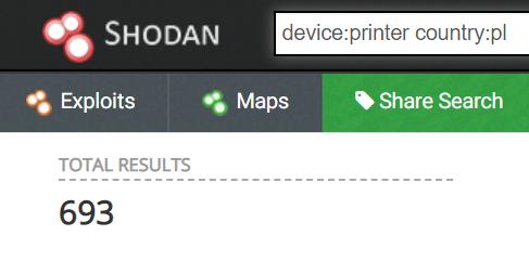 zrzut ekranu z narzędzia shodan