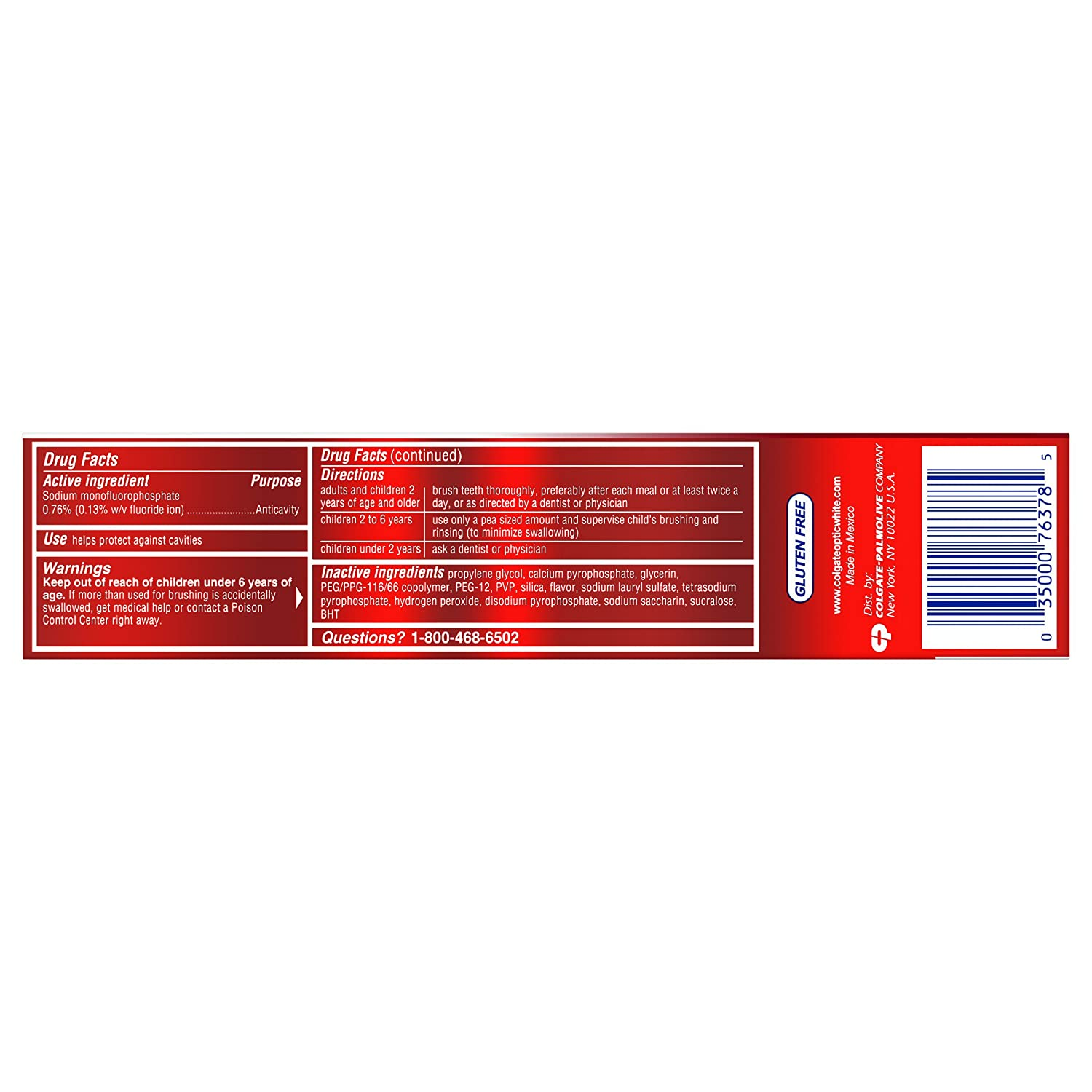 (6 Pack) Colgate Optic White Advanced Whitening Toothpaste ...