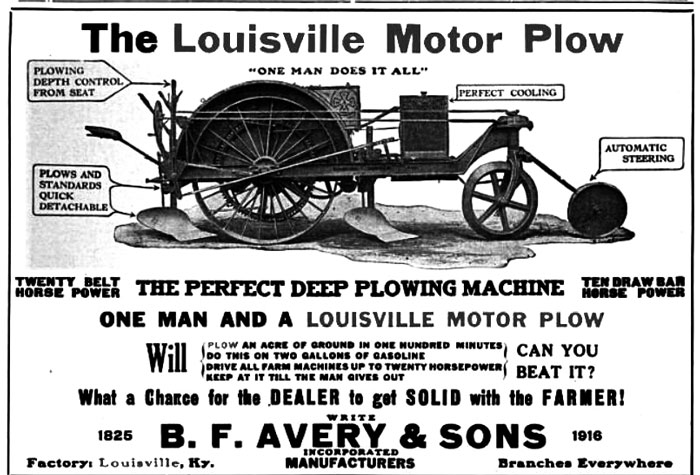 The Louisville Motor Plow– B.F. Avery's First Tractor