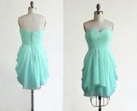 Mint Green Bridesmaid Dress,Strapless Short Sweetheart ...