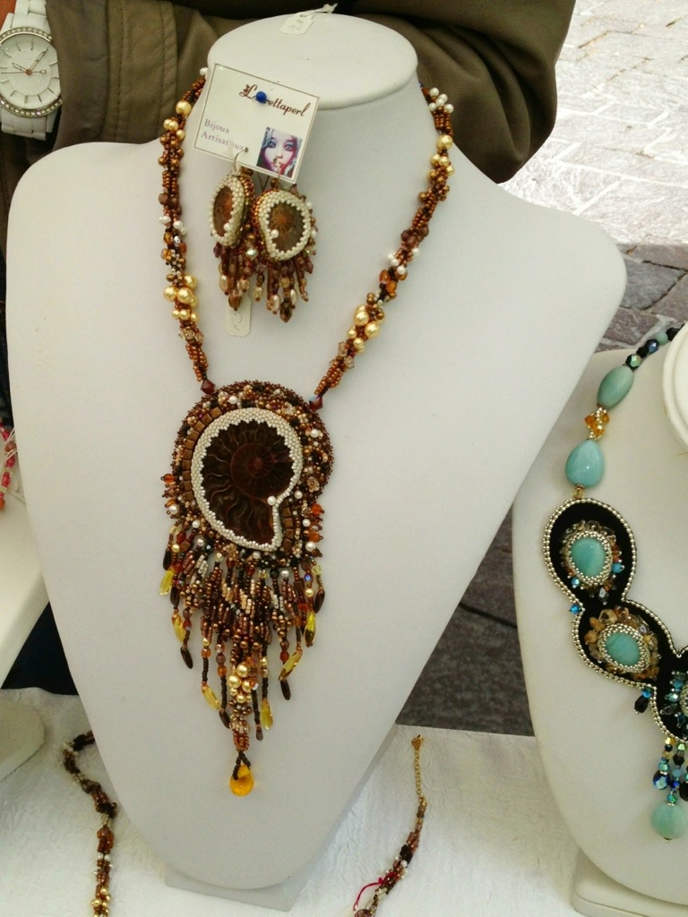 Jewelry at Uzes France market