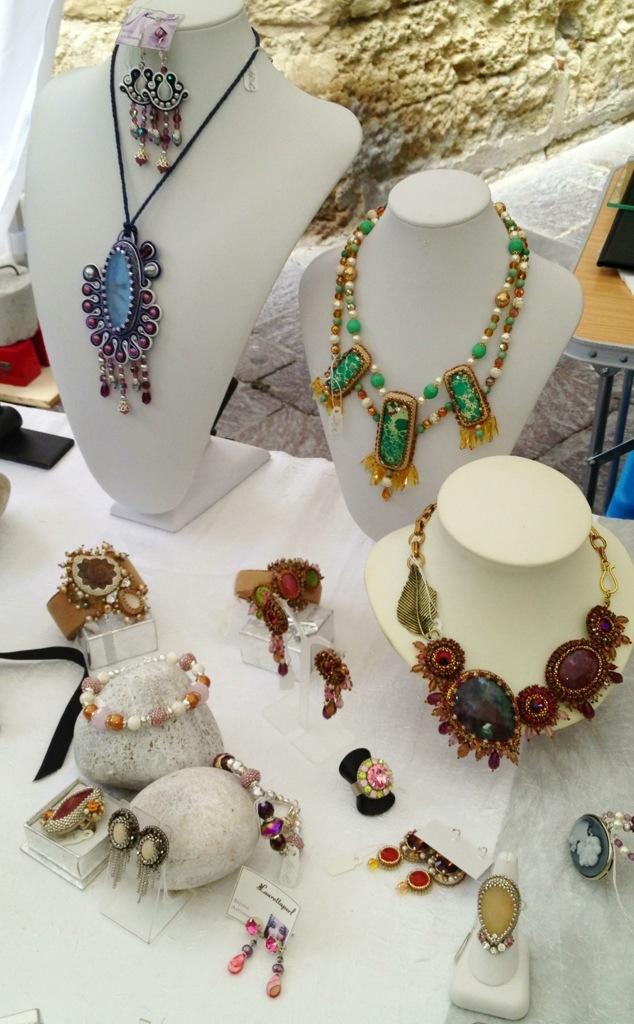 Jewelry at Uzes France market
