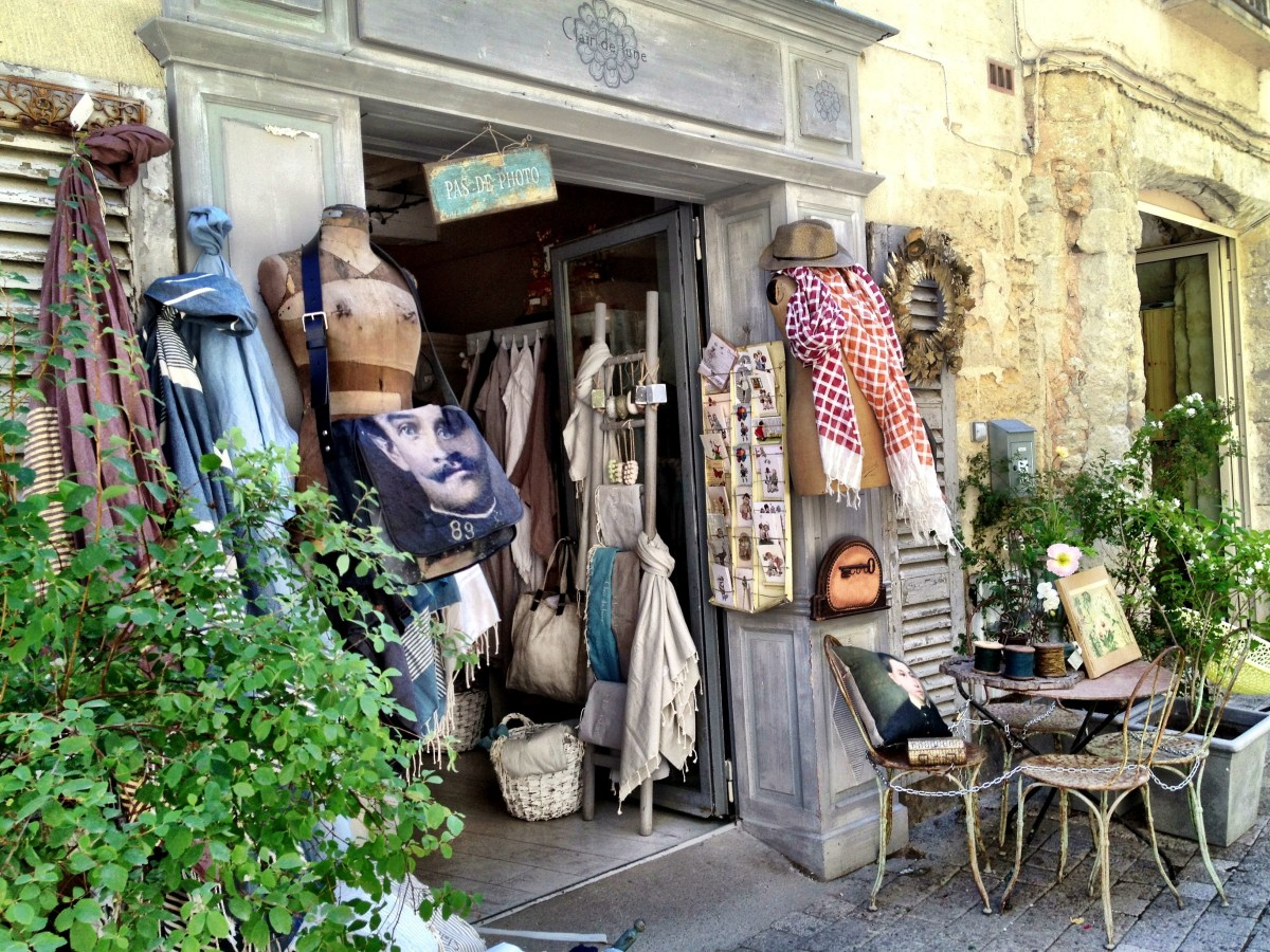 Summer scenes in Uzes, France