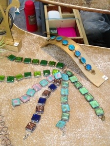 Sunday jewelry market in uzes France