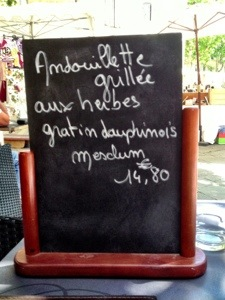 andouillette sausage from Uzes France