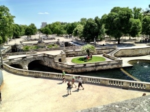 Jardin Fontaine in Nimes, France