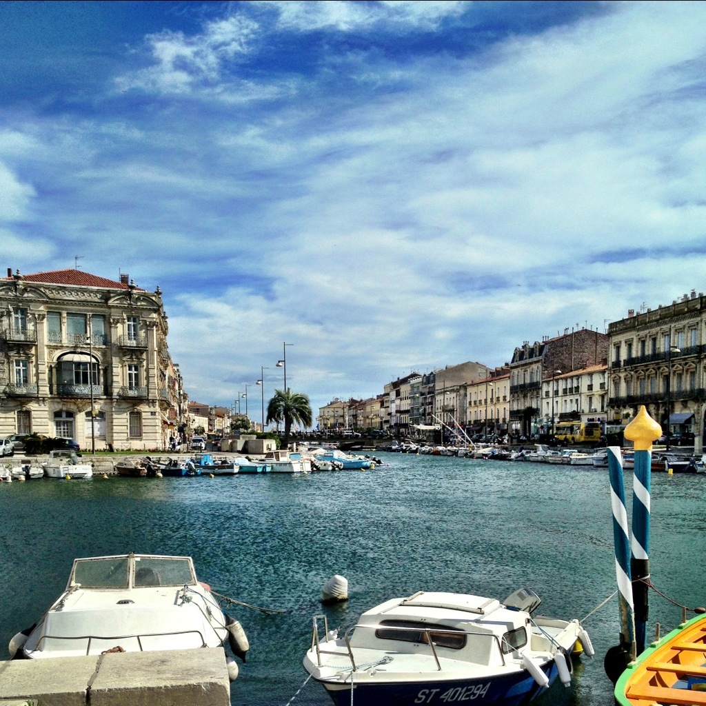 Sete, a French beach holiday site