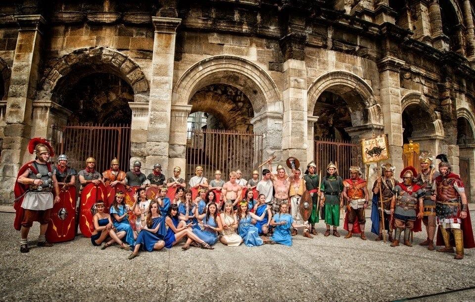 Roman re-enactments in Nimes, France