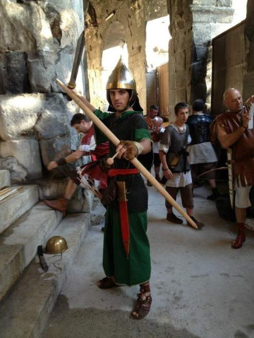 Roman re-enactments in Nimes, France
