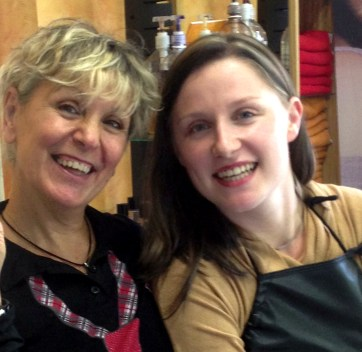 Rosie and Sophie, hair stylists, Uzes