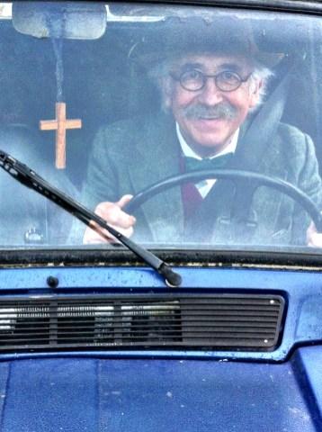Geoffrey in the blue van
